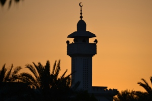 Minaret at sunset, Safa, Dubai. (April 2011)