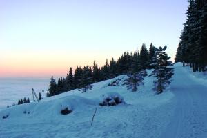 Зимняя картина с горы Витоша, ок г. София, Болгариа